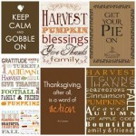 Free Thanksgiving Subway Art Printables