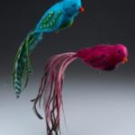 Felted Birds Christmas Ornament Tutorial
