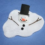 Metling Snowman Kids Winter Craft