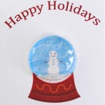 Snow globe bubble wrap card tutorial
