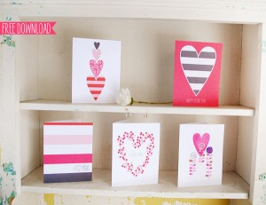 5 Free Printable Valentine's Day Cards