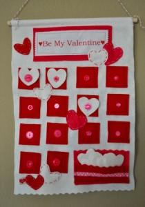 Buttoned-Up Valentine Calendar