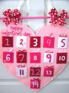 Felt Heart Valentines Countdown