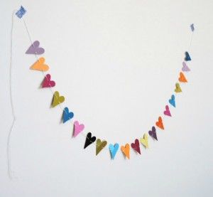 Paint Chip Heart Garland Tutorial