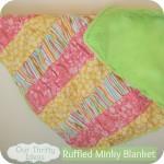 Rufffled Minky Baby Blanket Sewing