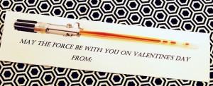 Printable Star Wars Light Saber Valentines