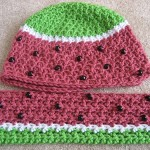 Watermelon Hat and Scarf Crochet Patterns