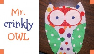 crinkly owl baby toy sewing pattern