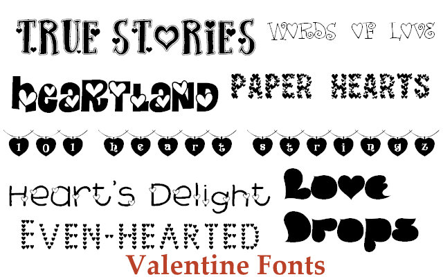 Free Valentine's Fonts