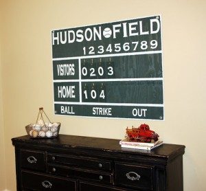 Baseball Score Board Tutorial