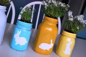 Mason Jar Easter Planters