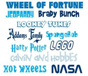 Pop Culture Fonts
