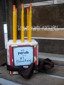 Teacher Gift Pencil Block