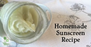 Homemade Natural Sunscreen