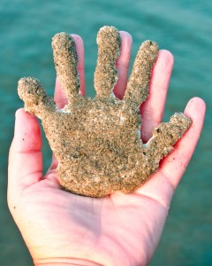 Sandy Handprint Beach Crafts