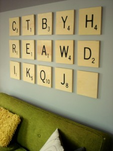 Big Scrabble Tiles Wall Art Tutorial