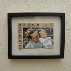 Daddy's Daughter Scrabble Photo Frame