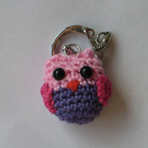 Cute Owl Keychain Crochet Pattern