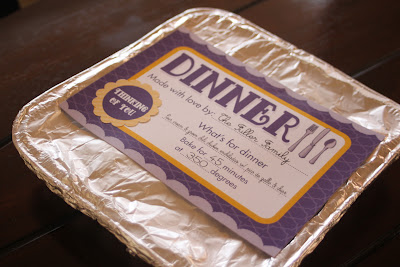 Printable Dinner Labels