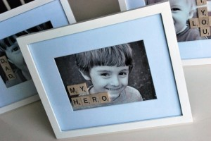 Scrabble Father's Day Photo Frame