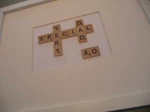 Scrabble Sentiments Father's Day Frame