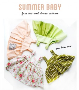 Summer Baby Dress Free Sewing Pattern