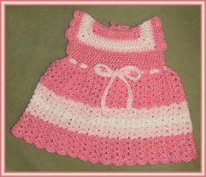 Baby Sun Dress Pattern To Crochet : Pretty in Pink Toddler Sundress Crochet Pattern ...