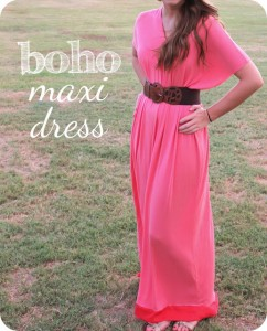Boho Maxi Dress Sewing Tutorial