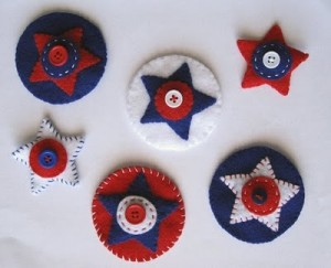 Felt Star Clips Tutorial