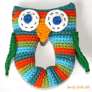 Free Crochet Pattern For Owl Toy : Stripey Owl Baby Rattle Free Crochet Pattern ? AllCrafts ...