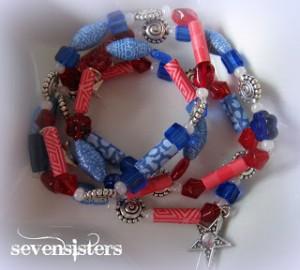 Patriotic Paper Bead Bracelet Tutorial