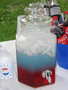red White and Blue punch