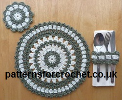 Round Placemat and Coaster Crochet Pattern