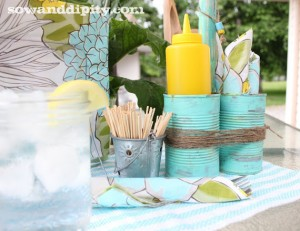 Soup Can Picnic Caddy