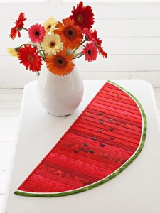 Watermelon Quilted Table Runner