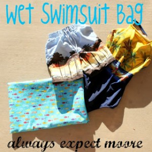 Wet Swimsuit Bag Free Sewing Pattern