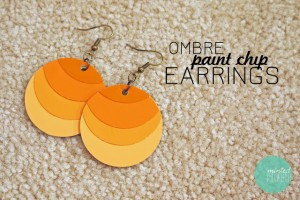 Paint Chip Earrings Tutorial