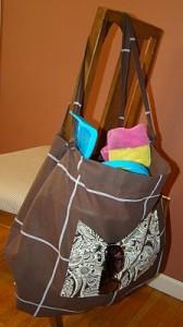 Shower Curtain Beach Bag