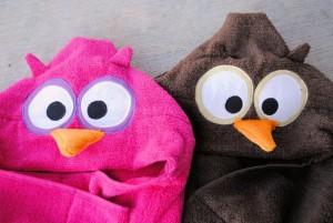 Owl Hooded Towel Sewing Pattern