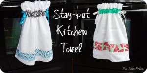 Stay-put Kitchen Towel Sewing Tutorial