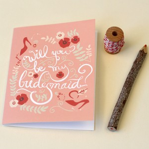 Bridesmaid Printable Card
