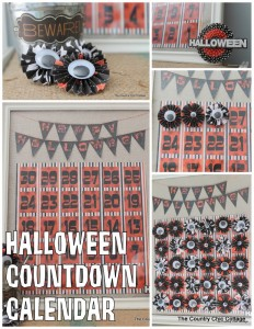 Paper and Glitter Halloween Countdown Tutorial