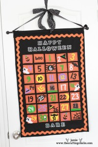 Halloween Felt Calendar Tutorial