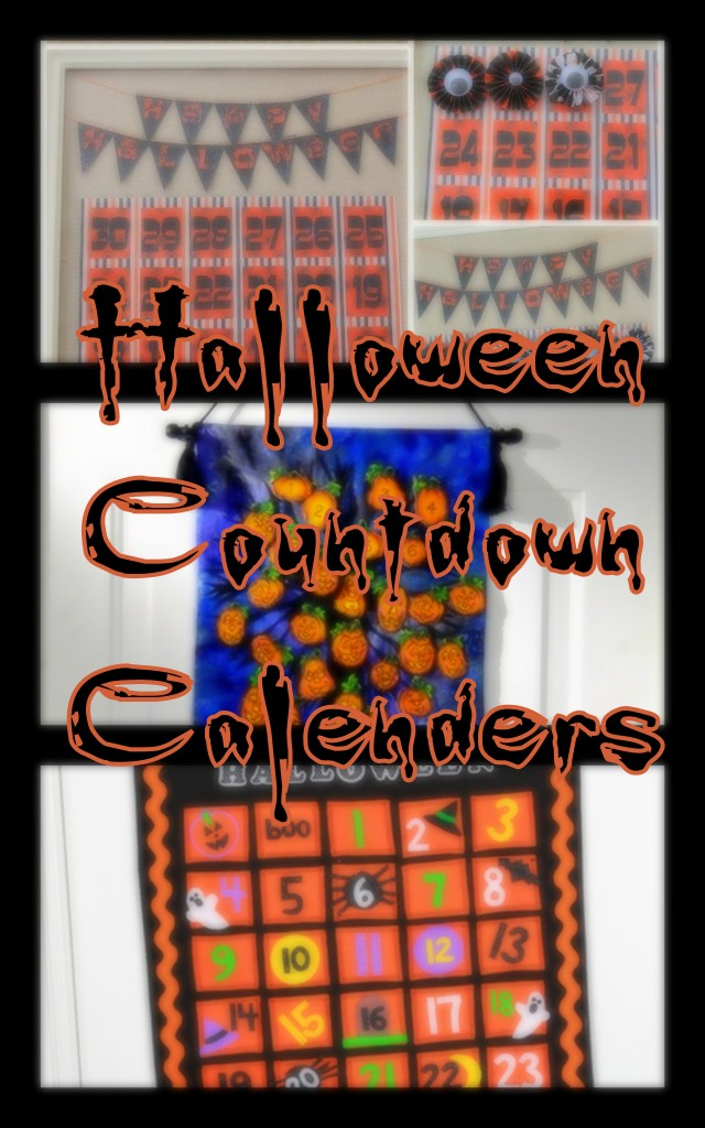 Halloween Coundown Calendar Tutorials