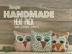 Handmade Owl Heat Pack Sewing Pattern