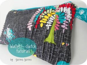Pin Tuck Pleats Clutch Wallet Tutorial