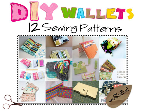 DIY Wallets — 12 Sewing Patterns!! – AllCrafts Free Crafts Update