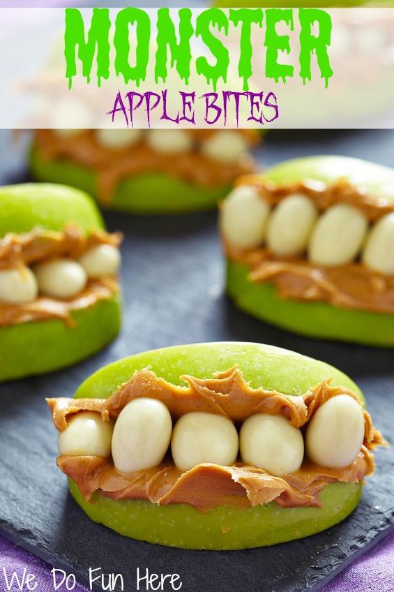 Monster Apple Bites Halloween Treat Recipe
