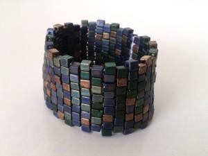 Beaded Stretch Cuff Bracelet Tutorial