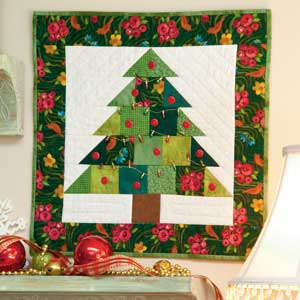 Free Quilt Patterns Christmas Tree : Tiny Tannenbaum Christmas Tree Quilt Pattern AllCrafts Free Crafts Update